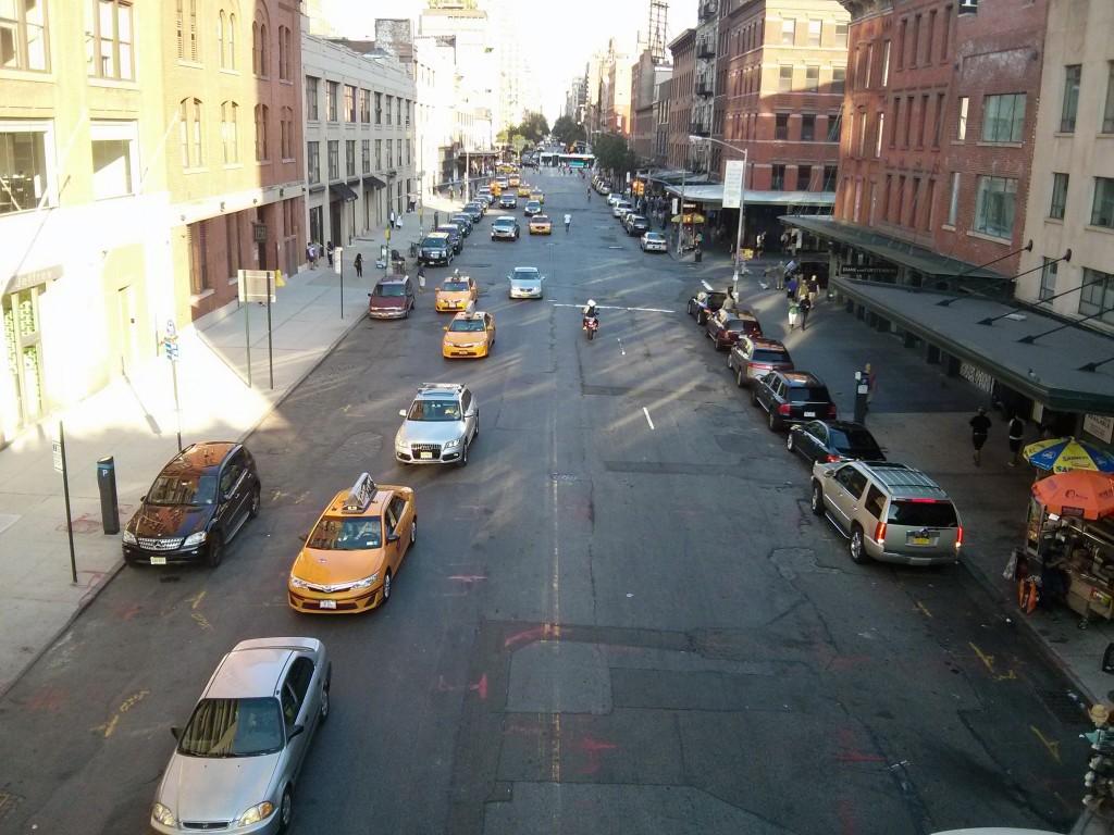 Platz für Radwege in New York