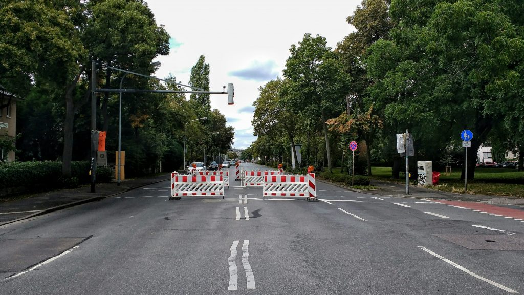Defekte Ampel in der Hindenburgstraße
